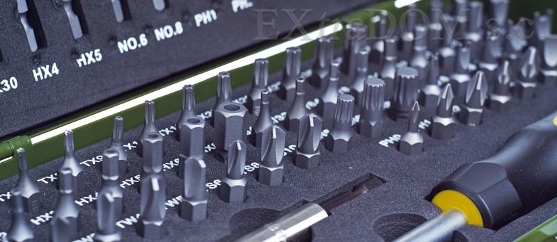 Proxxon - bity, końcówki specjalne kpl. 75 cz.