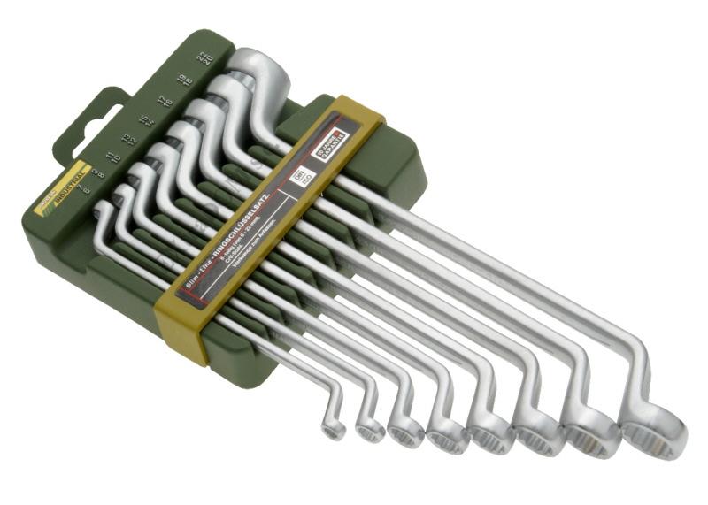 Klucze oczkowe Proxxon kpl. 8szt 6-22mm gięte