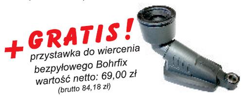 przystawka do wiecenia bezpyłowego Bohrfixx Starmix